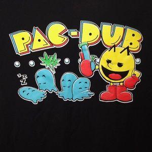 Pac-Man Parody Tshirt Mens Medium Funny Graphic